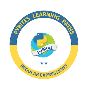 PyBites Regular Expressions Learning Path Badge