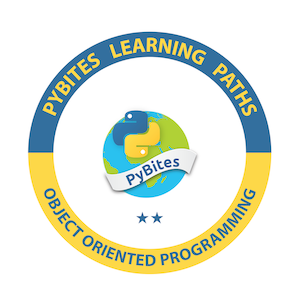 PyBites Object Oriented Programming Learning Path Badge