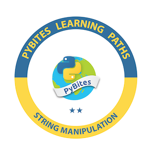 PyBites String Manipulation Learning Path Badge