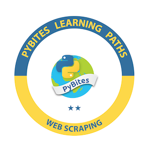 Web Scraping badge